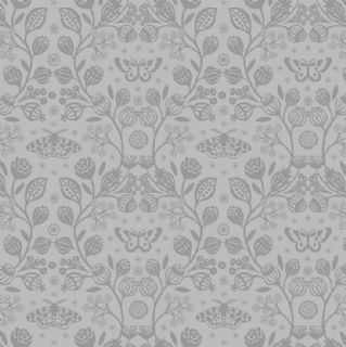 Lewis & Irene - Winter Garden - 6204 - Winter Floral Tone-on-Tone, Grey - A319.1 - Cotton Fabric
